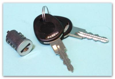 Cilinder + sleutels FF2 systeem (Nr. F4353)