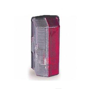 Zijlicht  opbouw Jokon (Rood/Wit) 92x42 mm. Kliksysteem
