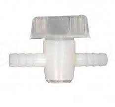 Slangverbinder met kraan 12x12 mm
