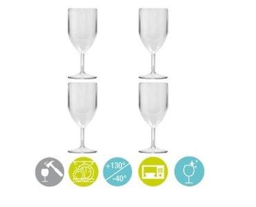 Kunststof wijnglazen (set a 4)
